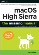 macOS High Sierra: The Missing Manual [Pdf/ePub] eBook