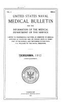 United States Naval Medical Bulletin V 6 1912