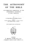 The Astronomy of the Bible Book