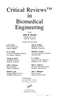 Critical Reviews in Biomedical Engineering