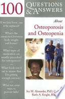 100 Questions Answers About Osteoporosis And Osteopenia Book PDF