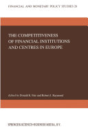 Pdf The Competitiveness of Financial Institutions and Centres in Europe Telecharger