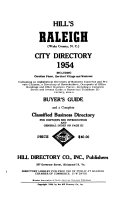 Hill's Raleigh (Wake County, N.C.) City Directory