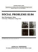 Pdf Social Problems