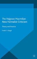 New Formalist Criticism Pdf/ePub eBook