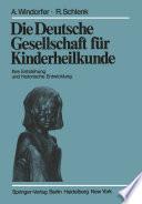 Die Deutsche Gesellschaft für Kinderheilkunde