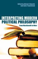 Interpreting Modern Political Philosophy Pdf/ePub eBook