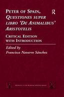 Pdf Peter of Spain, Questiones super libro De Animalibus Aristotelis Telecharger