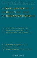 Evaluation in Organizations