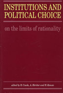 Institutions and Political Choice Book