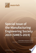 Special Issue of the Manufacturing Engineering Society 2019  SIMES 2019