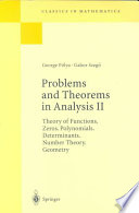 Problems and Theorems in Analysis II