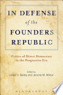 In Defense Of The Founders Republic Book