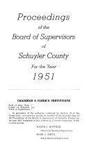 Proceedings of the Board of Supervisors of the County of Schuyler Book