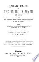 Literary Remains of the United Irishmen of 1798