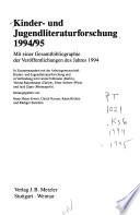 Kinder- und Jugendliteraturforschung 1994/95