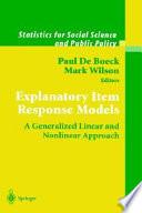 Explanatory Item Response Models Book PDF