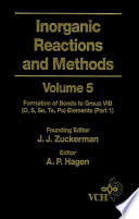 Inorganic Reactions and Methods  The Formation of Bonds to Group VIB  O  S  Se  Te  Po  Elements
