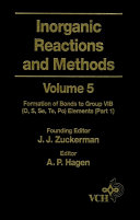 Inorganic Reactions and Methods, The Formation of Bonds to Group VIB (O, S, Se, Te, Po) Elements