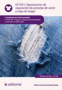 Operaciones de reparación de prendas de vestir y ropa de hogar. TCPF0109