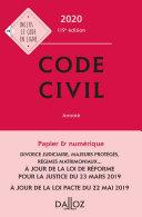 Pdf Code civil 2020, annoté - 119e éd. Telecharger