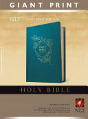 Holy Bible  Giant Print NLT  Red Letter  Leatherlike  Teal Blue