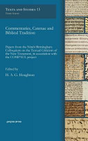 Commentaries, Catenae, and Biblical Tradition