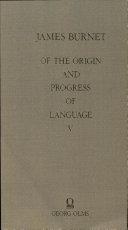 Of the Origin and Progress of Language Pdf/ePub eBook