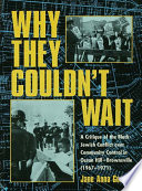 Why They Couldn T Wait Book