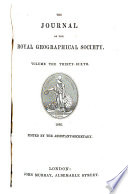 The Journal of the Royal Geographic Society of London Book