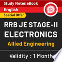 Rrb Je Stage Ii Electronics Study Notes Ebook English Medium Rrb Je Special