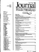 International Journal of Powder Metallurgy Book