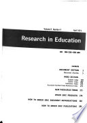 Research in Education Book