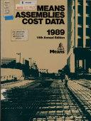 Means Assemblies Cost Data  1989