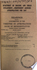 Department of Housing and Urban Development  independent Agencies Appropriations for 1987  Council on Environmental Quality