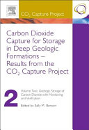 Carbon Dioxide Capture for Storage in Deep Geologic Formations