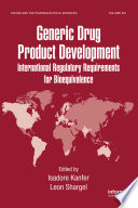 Generic Drug Product Development Book PDF