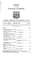 Journal of the University of Bombay