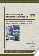 Structural Integrity Of Welded Structures Xii Book PDF