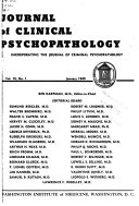 Journal of Clinical and Experimental Psychopathology   Quarterly Review of Psychiatry and Neurology