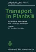 Transport in Plants III