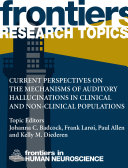 Current perspectives on the mechanisms of auditory hallucinations in clinical and non-clinical populations