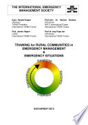 TIEMS training for rural communities emergency management   Emergency situations Book