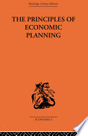 Principles of Economic Planning Book