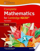Core Mathematics for Cambridge IGCSE® with CD-ROM (Third Edition)