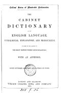 The Cabinet dictionary of the English language