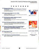 Journal of the American Pharmaceutical Association Book