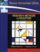 Cover of Research Methods in Education