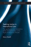 Seeking Justice in International Law: The Significance and ... - Seite 116