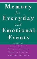 Memory for Everyday and Emotional Events Pdf/ePub eBook